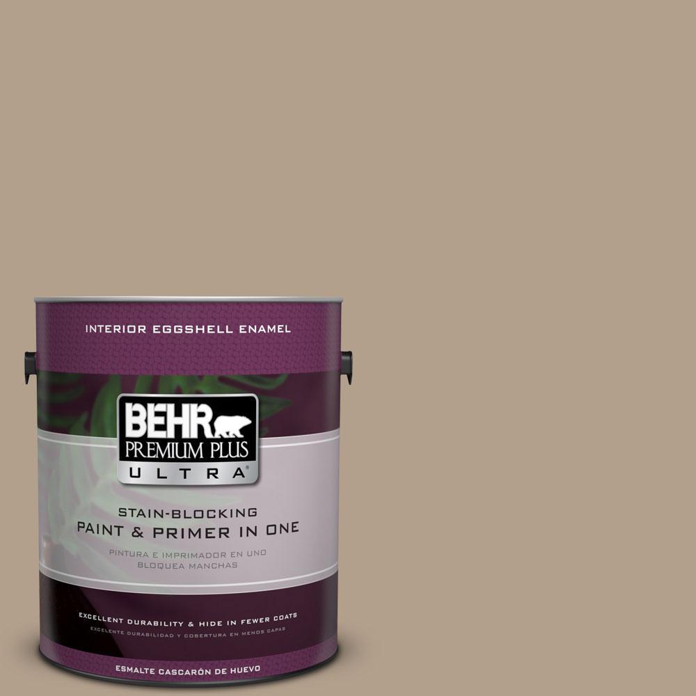 BEHR Premium Plus Ultra 1-gal. #PWL-85 Stepping Stones Eggshell Enamel Interior Paint
