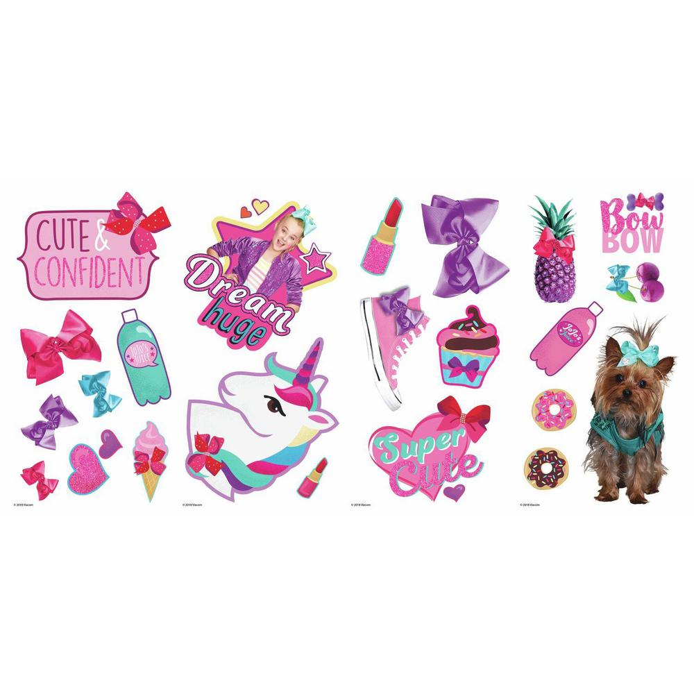 Roommates Jojo Siwa Pink Peel And Stick Wall Decal Set Of