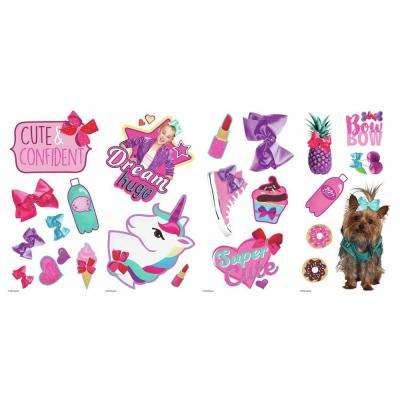 JoJo Siwa Pink Peel and Stick Wall Decal (Set of 23)