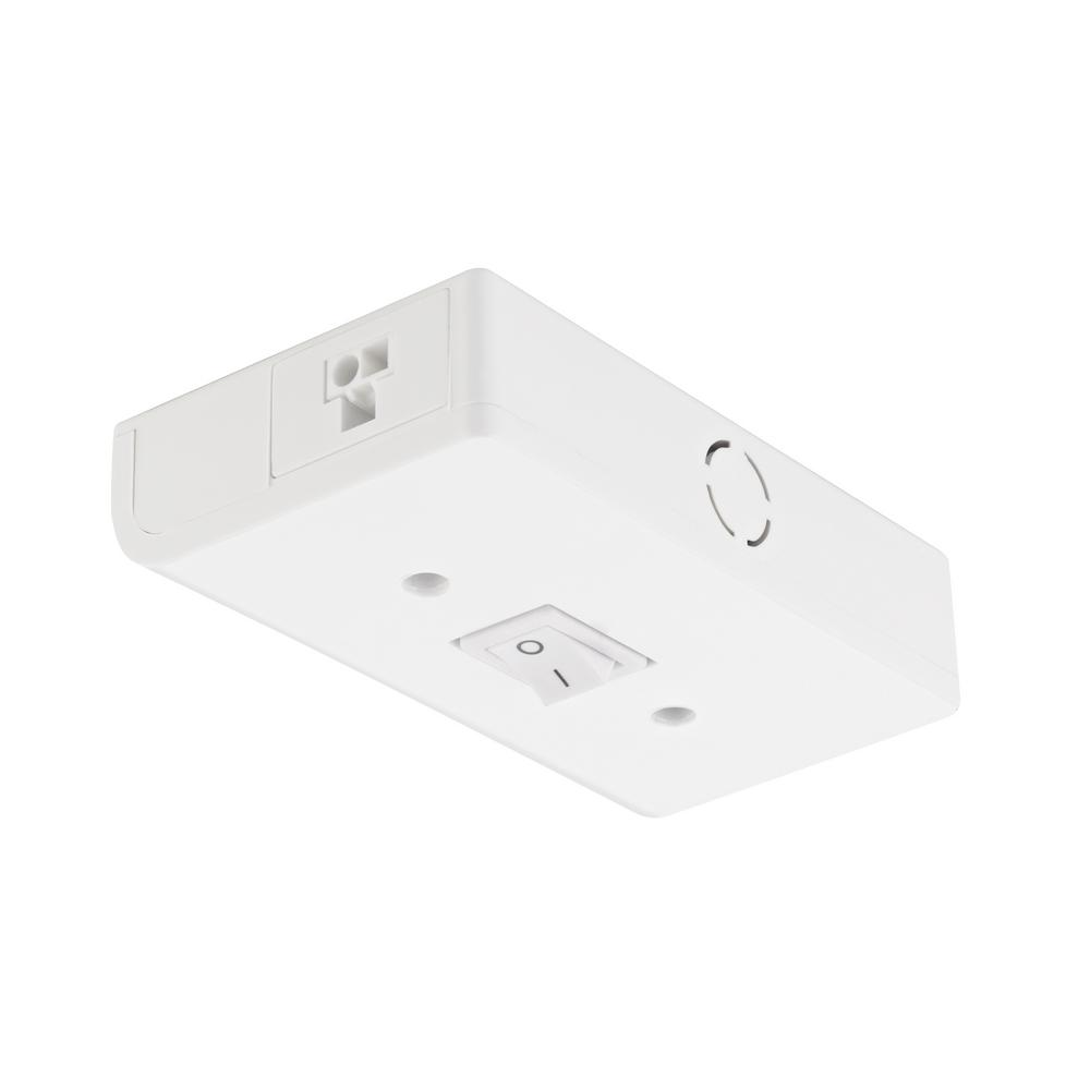 Titan Lighting Puck White Under Cabinet Light Hardwire