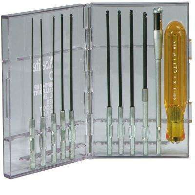 Allen Ballpoint Hex SAE Screwdriver Set (11-Piece)