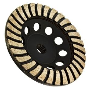 Archer USA 5 inch x 5/8 in.-11 Thread Coarse Grit Turbo Diamond Grinding Wheel for Stone Grinding by Archer USA