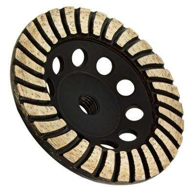 5 in. x 5/8 in.-11 Thread Coarse Grit Turbo Diamond Grinding Wheel for Stone Grinding