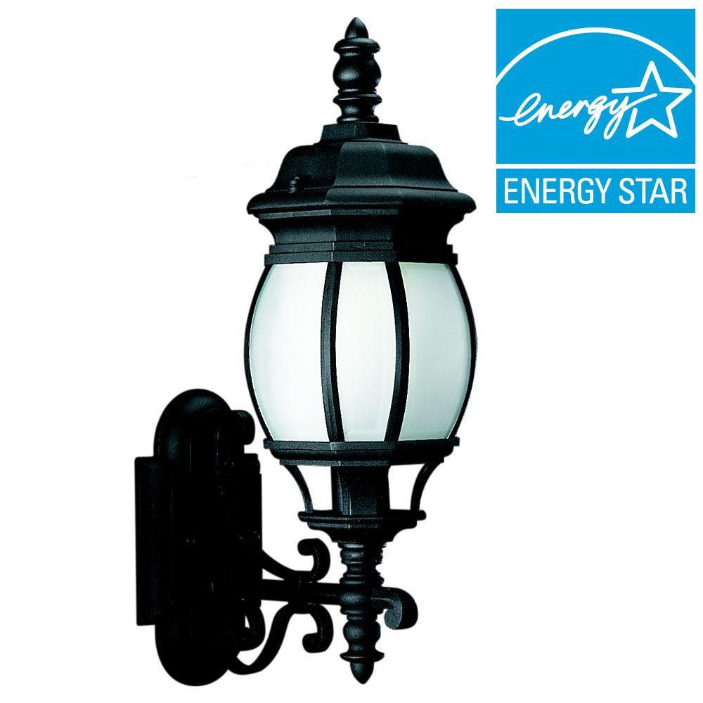 Sea Gull Lighting Wynfield 1-Light Black Outdoor Wall Mount Fixture