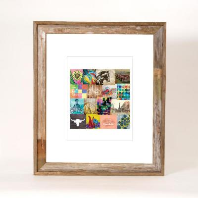 20 in. x 24 in. Rustic Reclaimed Barnwood Picture Frame