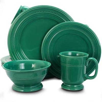 Barberware 16-Piece Turquoise Dinnerware Set