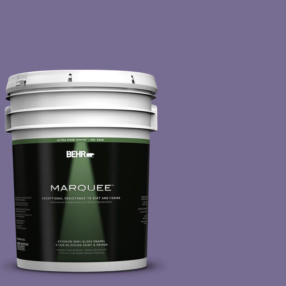 5-gal. #650D-6 Purple Silhouette Semi-Gloss Enamel Exterior Paint
