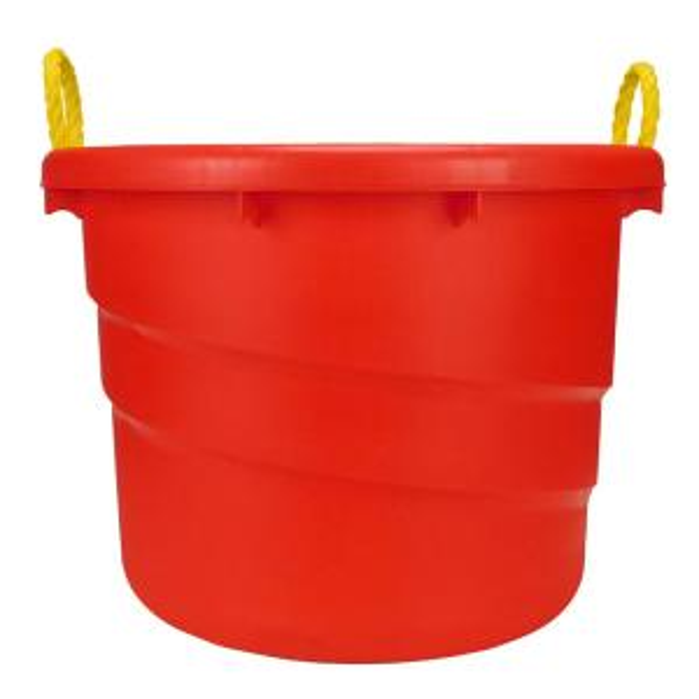 23-Gal. Plastic Utility Storage Bin in Red (2-Pack)