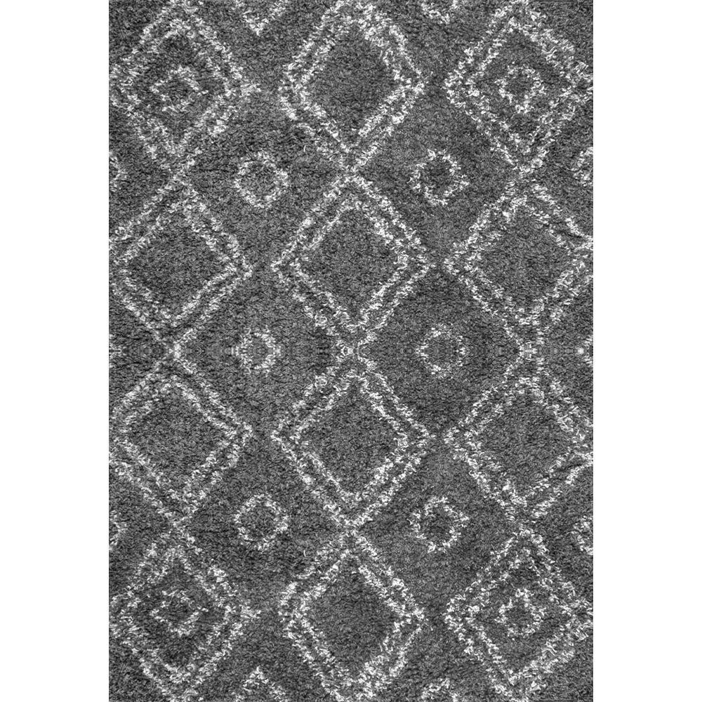 Nuloom iola easy shag gray 8 ft x 10 ft area rug ozsg18b for Bathroom carpet top view