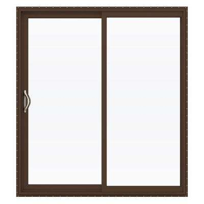 72 in. x 80 in. V-2500 Series Vinyl Sliding Low-E Glass Patio Door