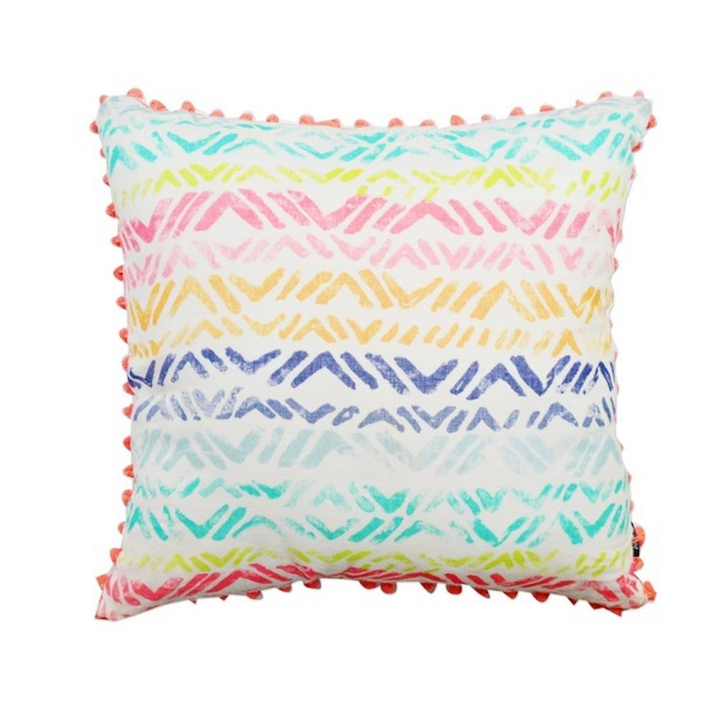 A1HC Multi-Color Broken Chevron Decorative 20 in. Throw Pillow
