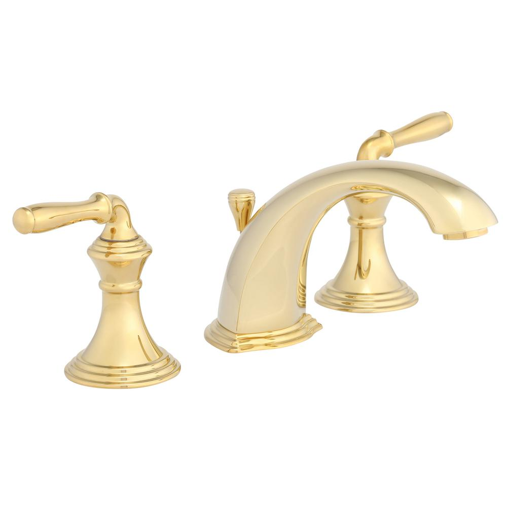 widespread 2 handle low arc bathroom faucet in vibrant polished - Bathroom Faucets Home Depot