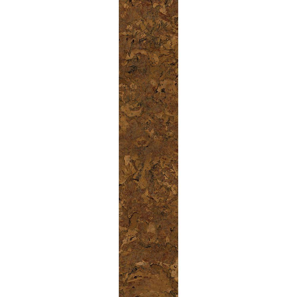 TrafficMASTER Allure 6 in. x 36 in. Chandler Cork Dark Luxury Vinyl Plank Flooring (24 sq. ft. / Case)