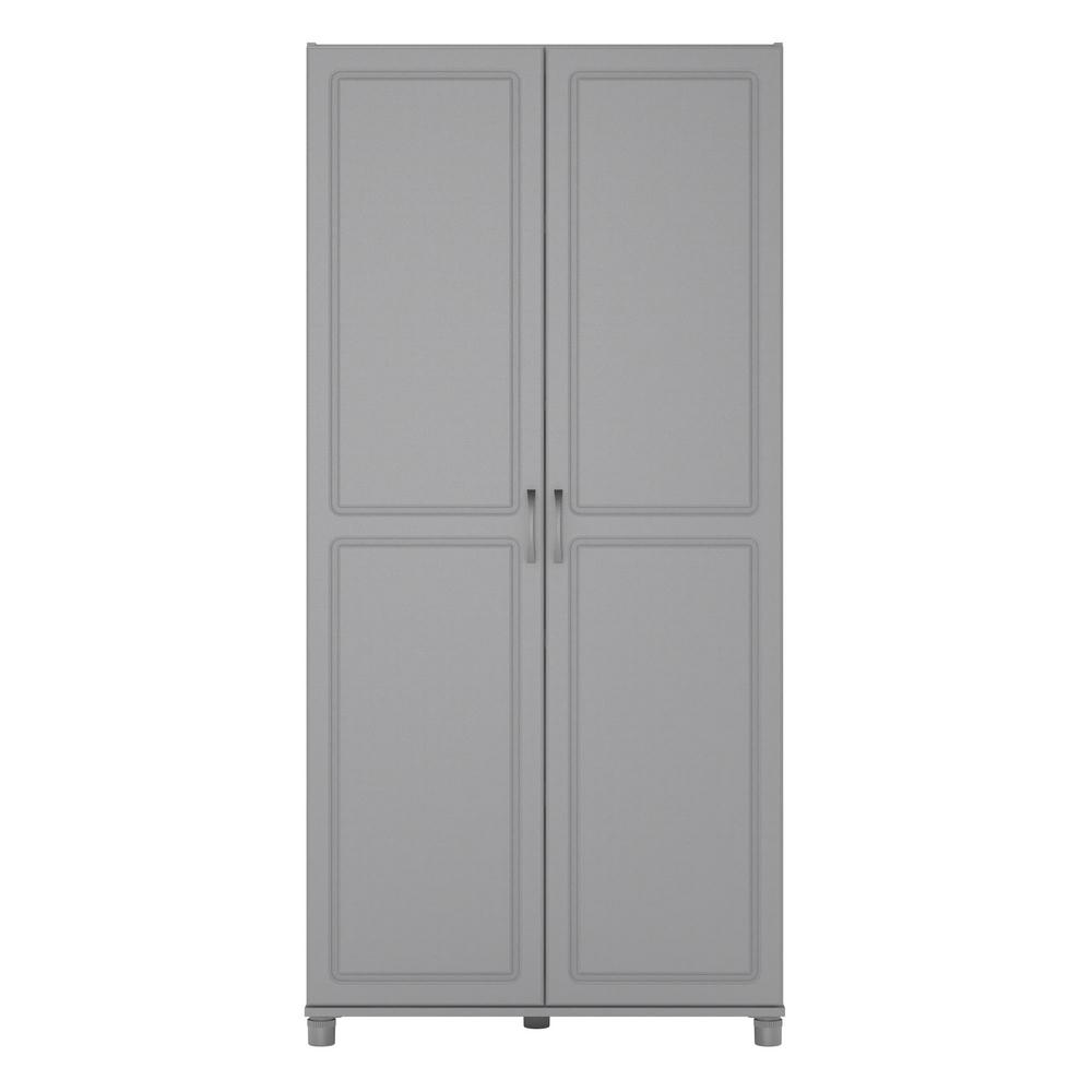 Ashen Gray Utility Storage Cabinet Hd67232 The Home Depot