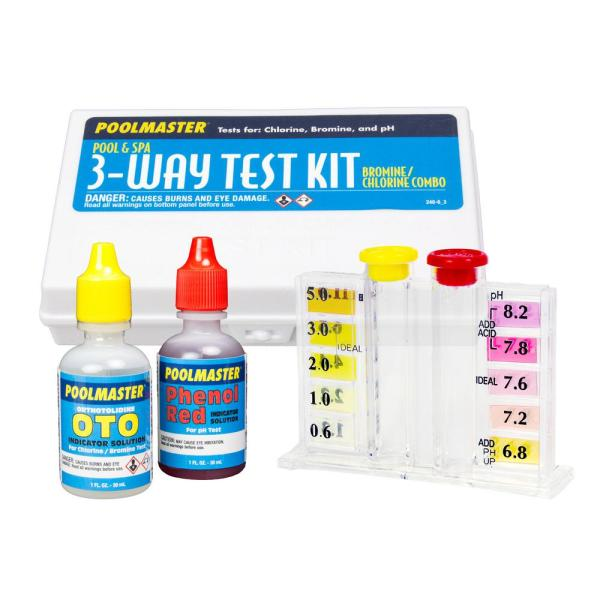 3-Way Swimming Pool and Spa Water Test Kit with Case