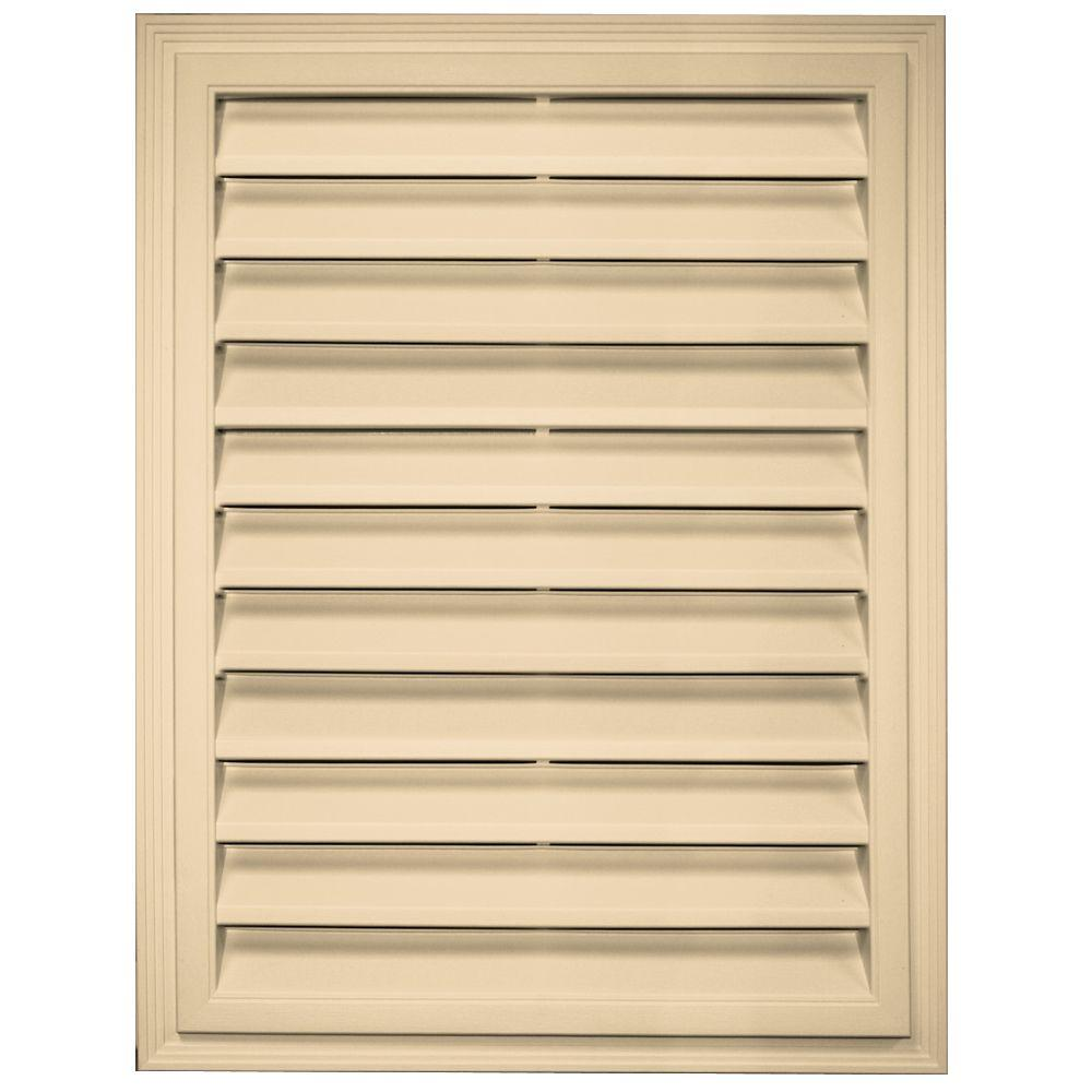 18 in. x 24 in. Rectangle Gable Vent in Dark Almond