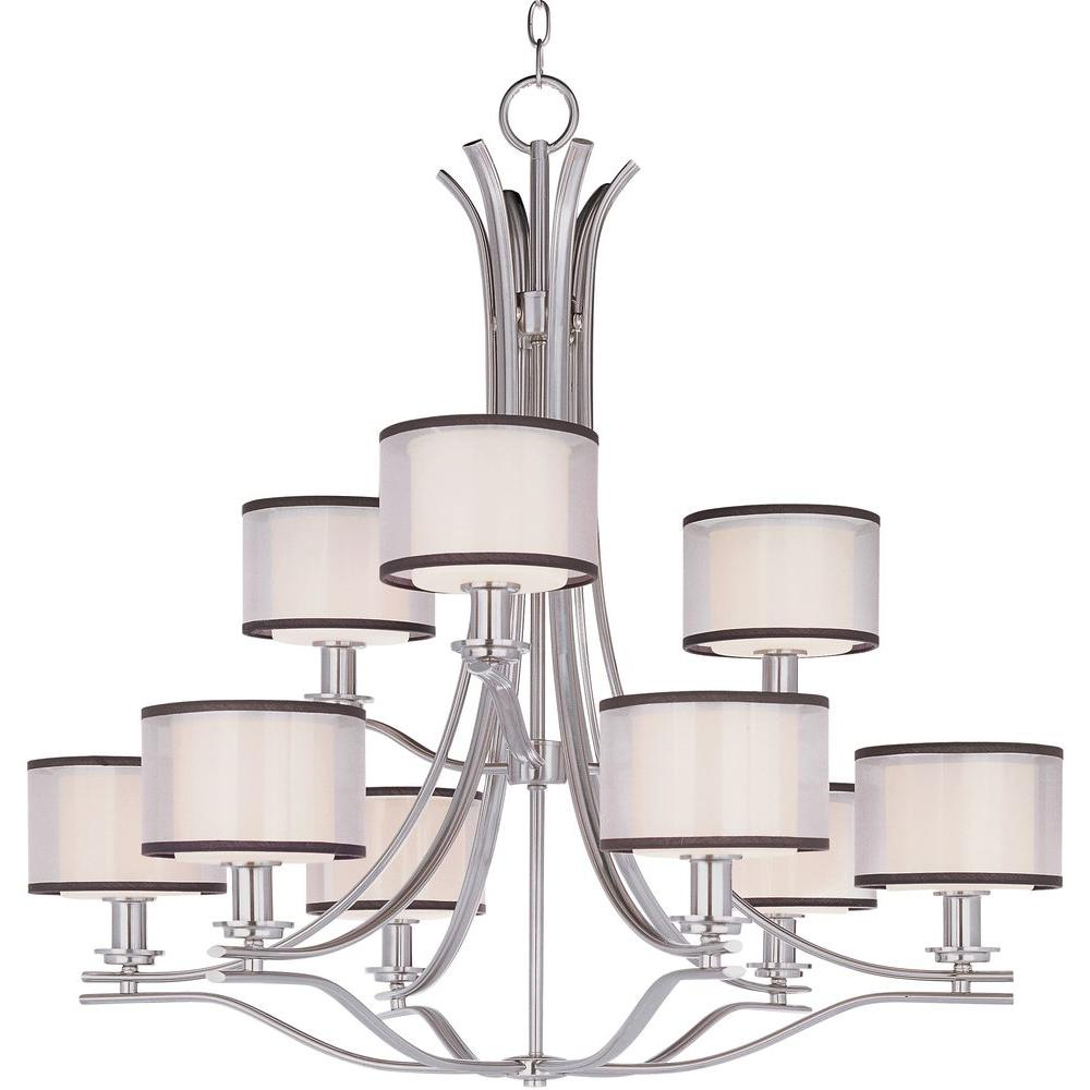 Maxim lighting orion 9 light satin nickel chandelier 23036swsn maxim lighting orion 9 light satin nickel chandelier mozeypictures Choice Image