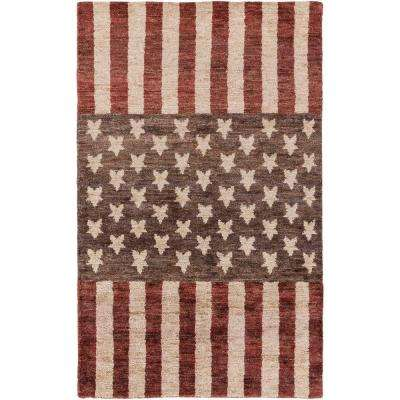 Espinar Burgundy 3 ft. x 5 ft. Indoor Area Rug
