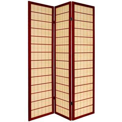 6 ft. Rosewood 3-Panel Room Divider