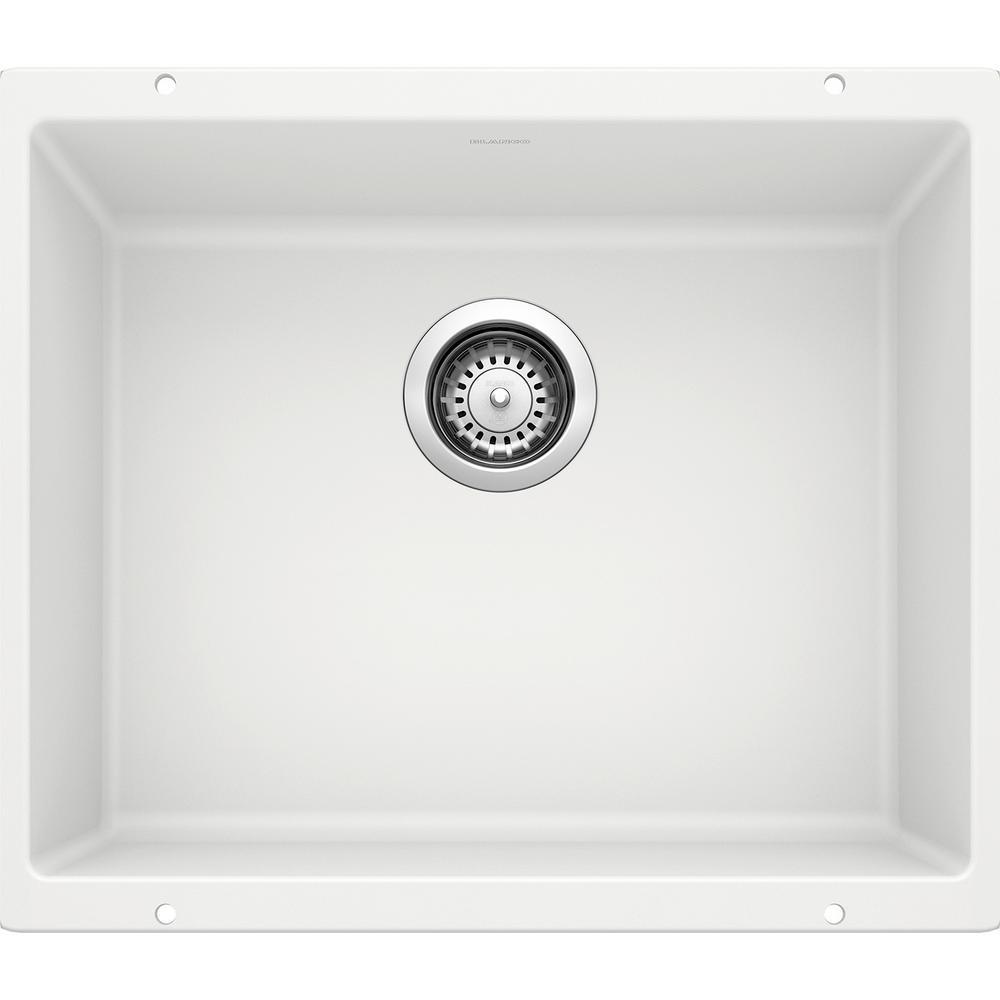 PRECIS Undermount Granite Composite 21 in. Single Bowl Kitchen Sink in White