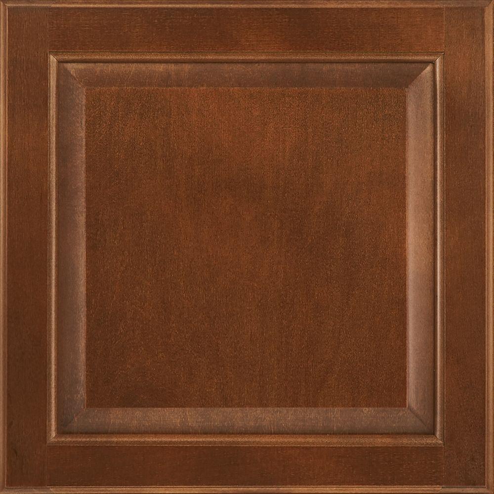 Simply Woodmark 12-7/8x13 in. Cabinet Door Sample in Sunbrook Nutmeg
