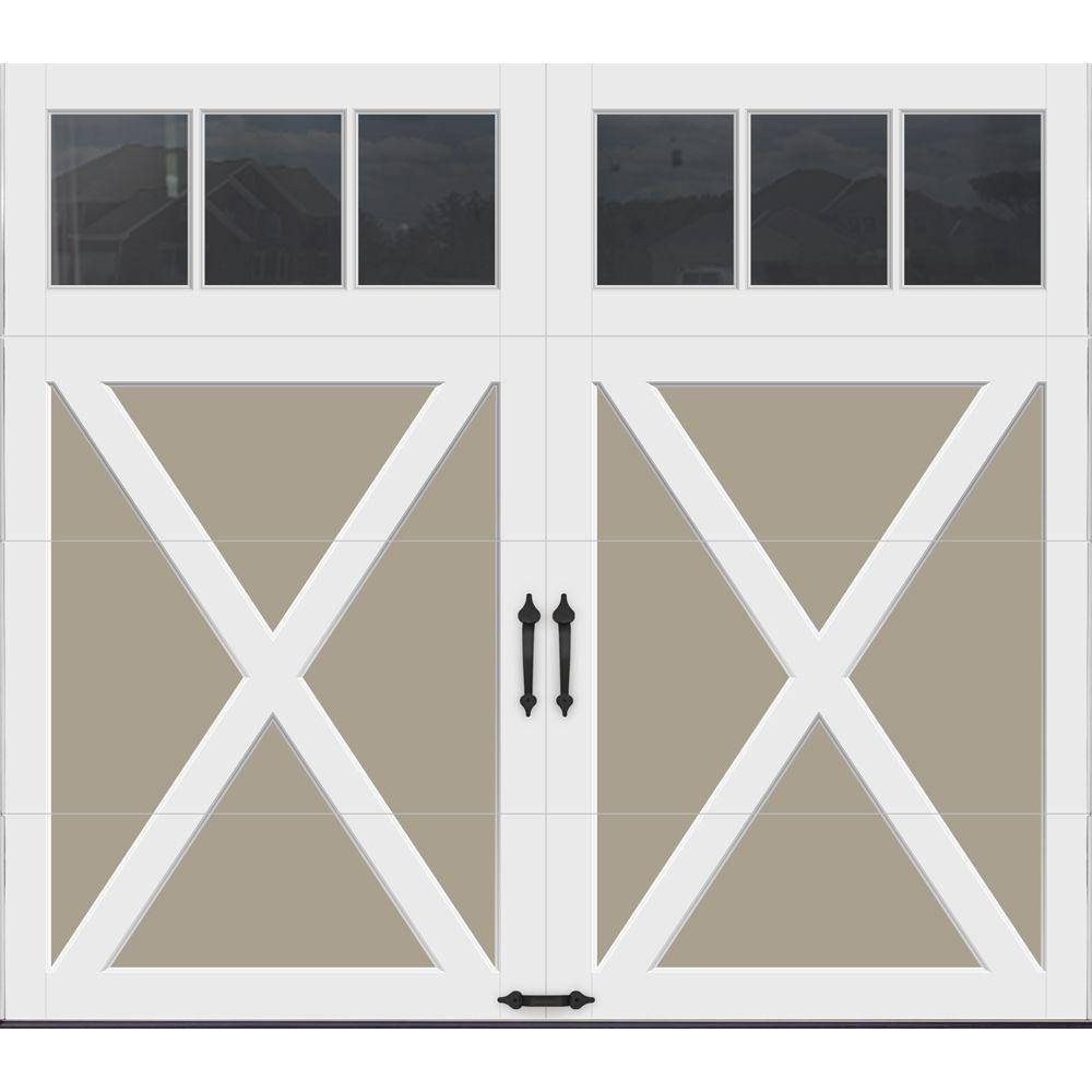 Clopay coachman collection 8 ft x 7 ft 18 4 r value for 16 x 21 garage door panels