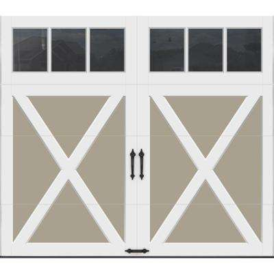 Coachman Collection 8 ft. x 7 ft. 18.4 R-Value Intellicore Insulated Sandtone Garage Door with REC13 Window
