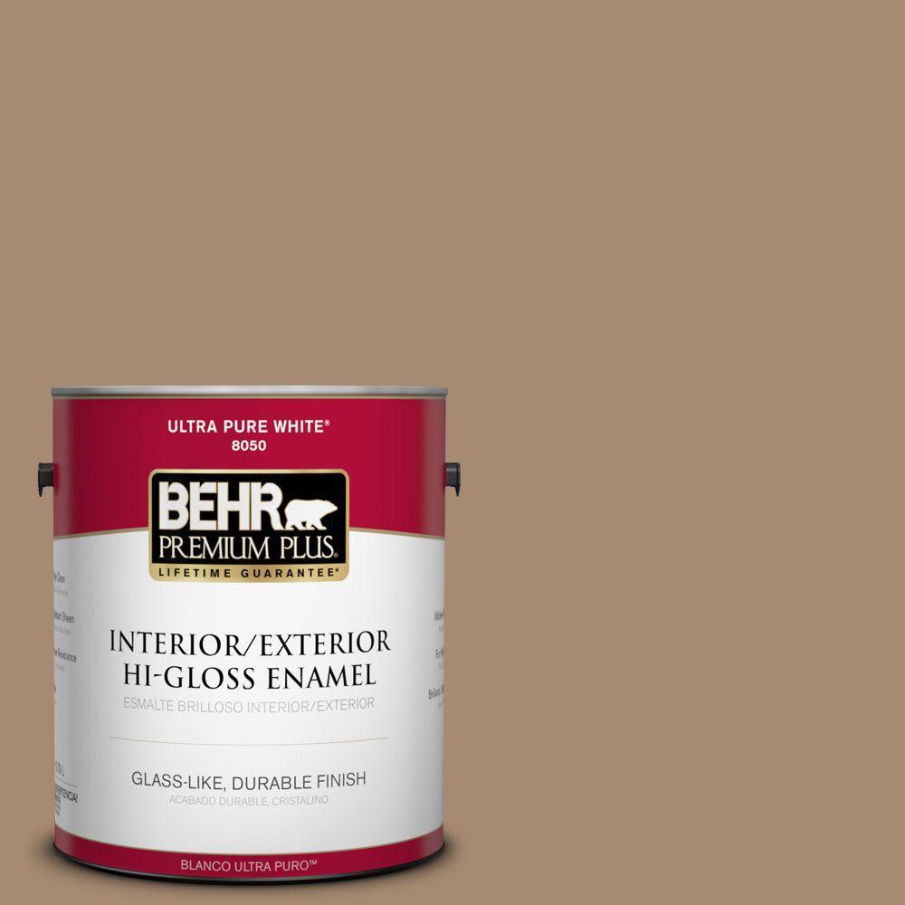 1-gal. #N260-5 Distant Land Hi-Gloss Enamel Interior/Exterior Paint