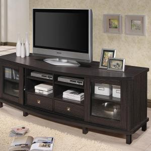 Baxton Studio Walda Dark Brown Wood Entertainment Center