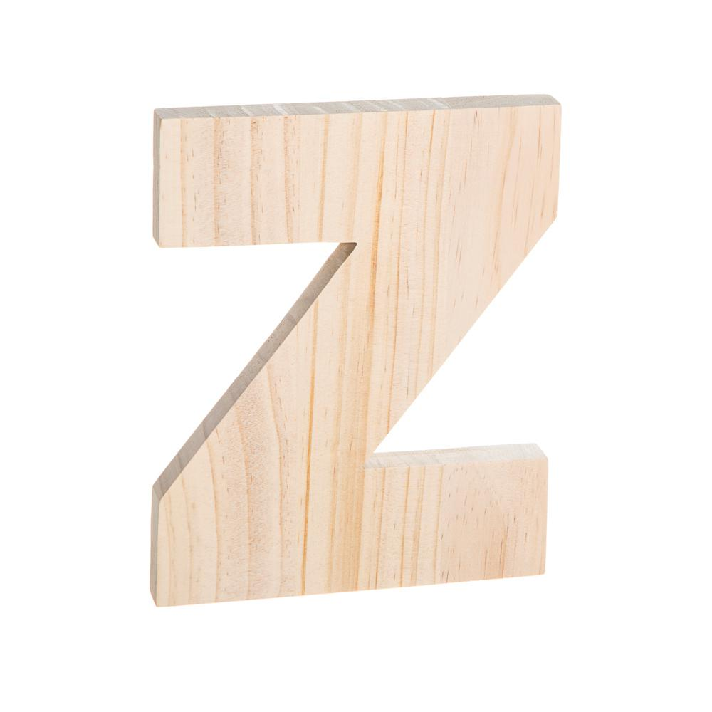 Darice Alpha 8 in. Letter Z in Unfinished Wood