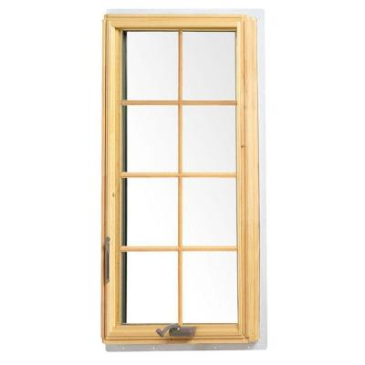 24.125 in. x 48 in. White 400 Series Casement Wood Window with White Exterior and Colonial Grilles