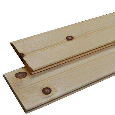 1 in. x 6 in. x 8 ft. #3 Pine WP4 Flatback Siding Board