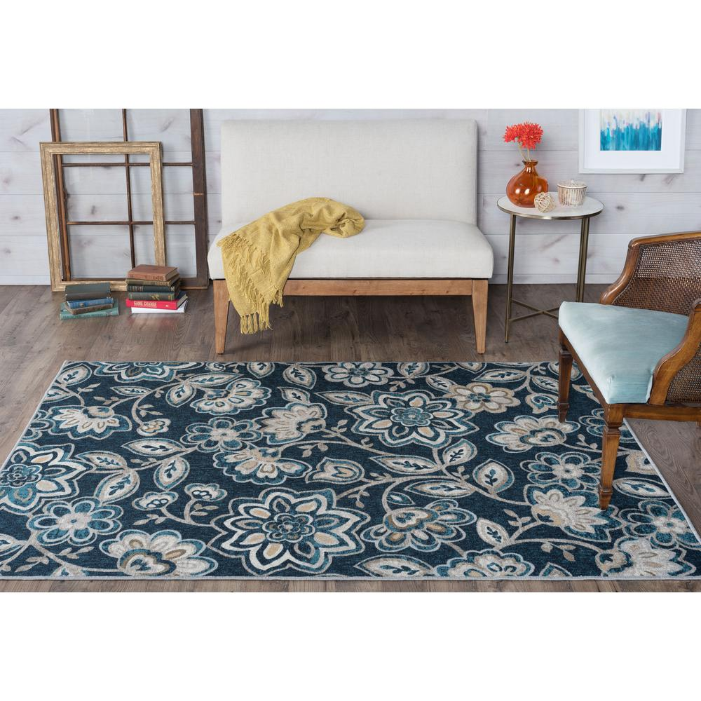 Tayse Rugs Majesty Navy 3 ft. 11 in. x 5 ft. 3 in. Transitional Area Rug-MJS2407 4x6 - The Home ...