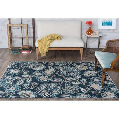 Majesty Navy 3 ft. 11 in. x 5 ft. 3 in. Transitional Area Rug
