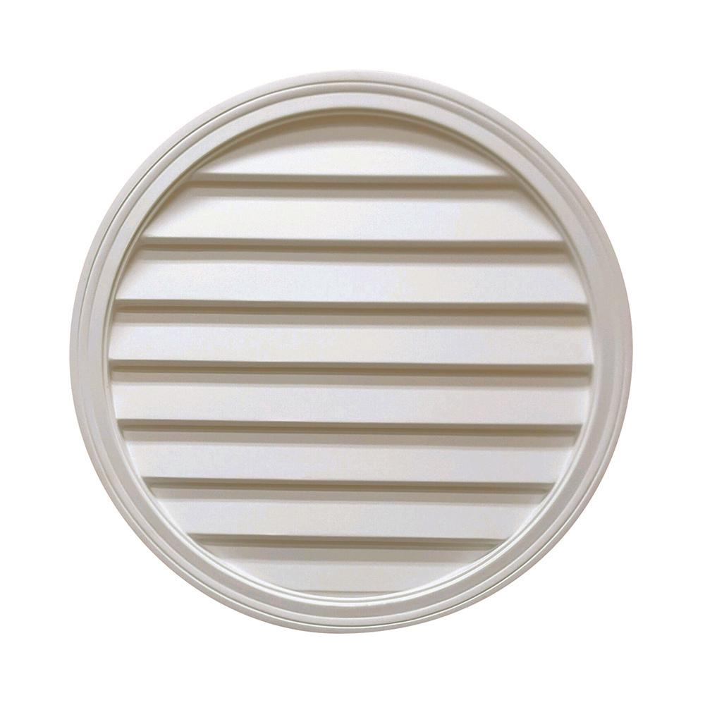 24 in. x 24 in. x 2 in. Polyurethane Decorative Round