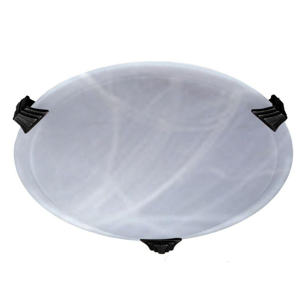 Contemporary Beauty 1-Light Black Halogen Ceiling Flush Mount