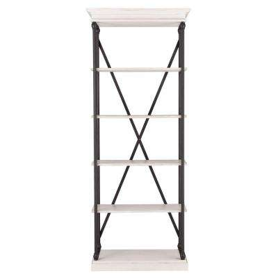 Manor Drive White Wash Open Bookcase