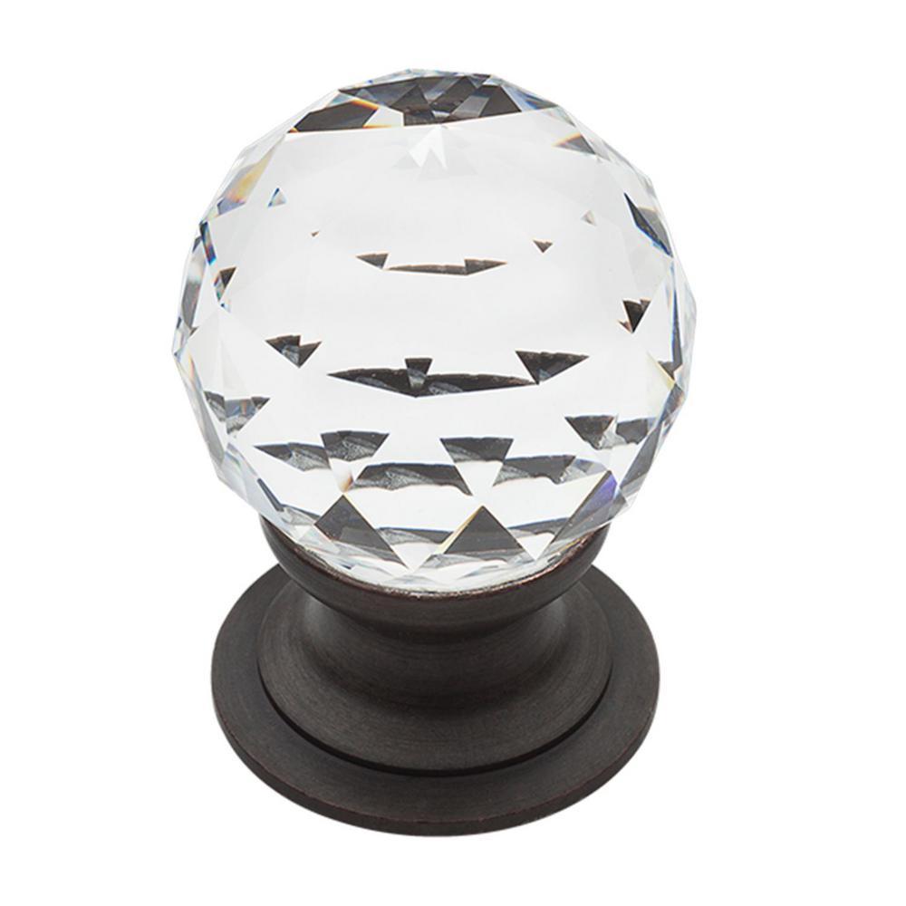 Swarovski Crystal 1.19 in.Venetian Bronze Cabinet Knob