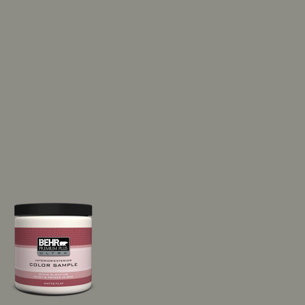 BEHR Premium Plus Ultra 8 oz. #N370-5 Incognito Interior/Exterior Paint Sample