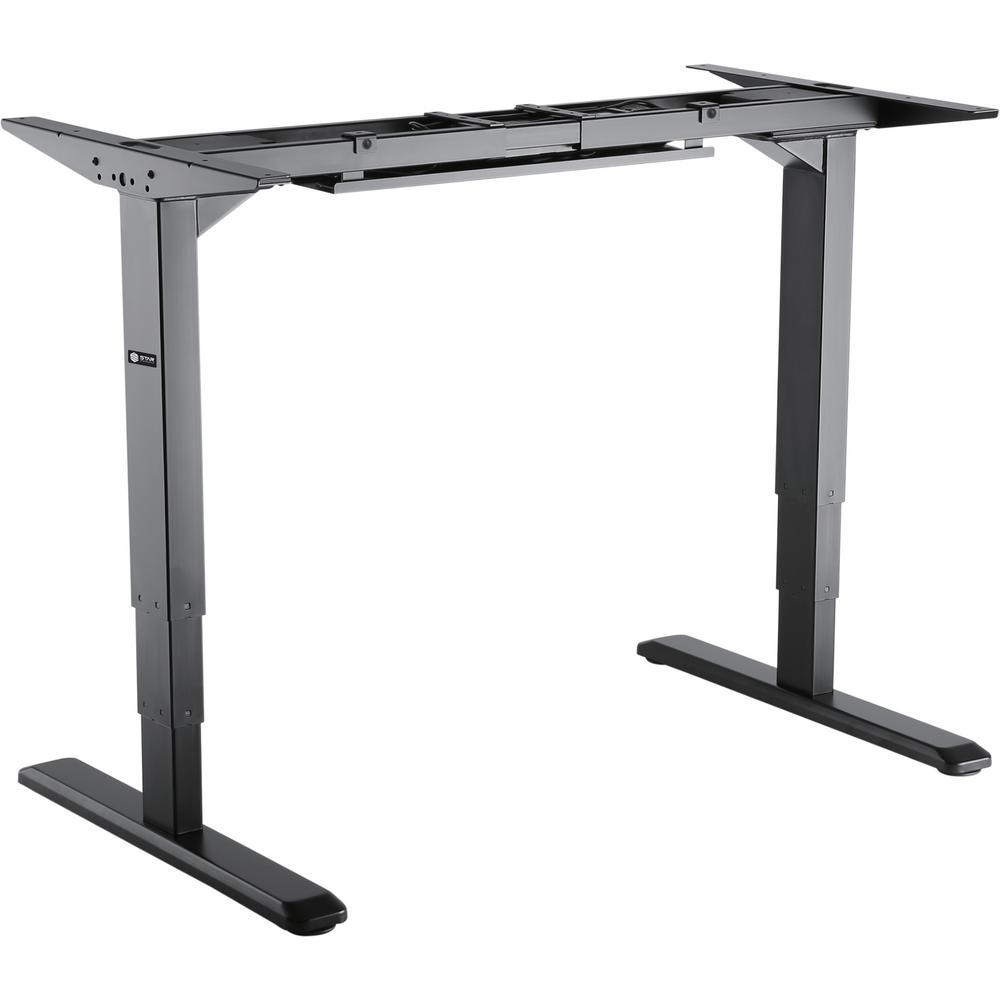 Star Ergonomics Black Electric Sit Stand Desk Frame 3 Stage Reverse Dual Motor