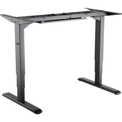 Black Electric Sit-Stand Desk Frame, 3-Stage Reverse Dual Motor, Table Top Not Included
