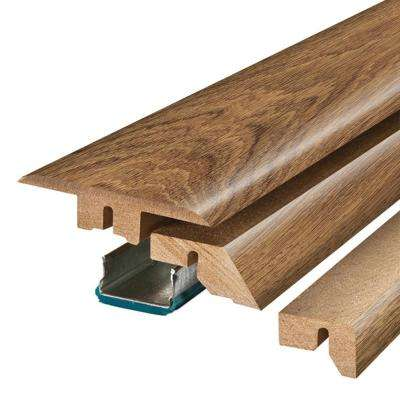 Burnished Caramel Oak/Cross Sawn Chestnut 3/4 in. Thick x 2-1/8 in. Wide x 78-3/4 in. Length Laminate 4-in-1 Molding