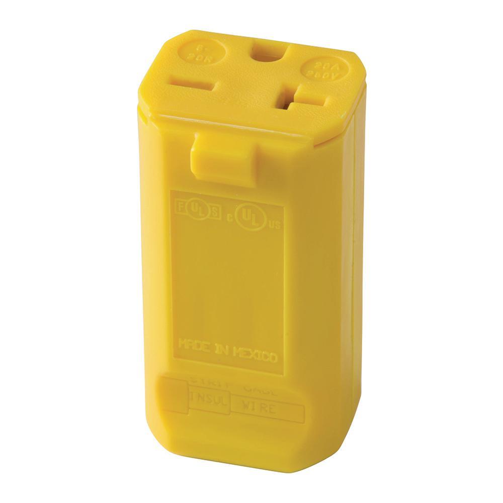 MaxGrip 20 Amp 250-Volt M3 Connector, Yellow