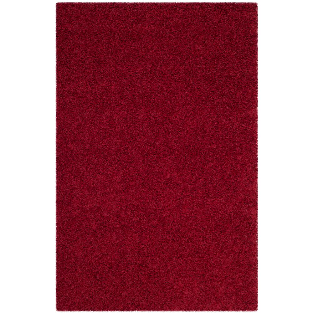 Athens Shag Red 3 ft. x 5 ft. Area Rug