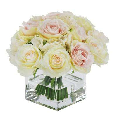8 in. Rose Bouquet in Vase