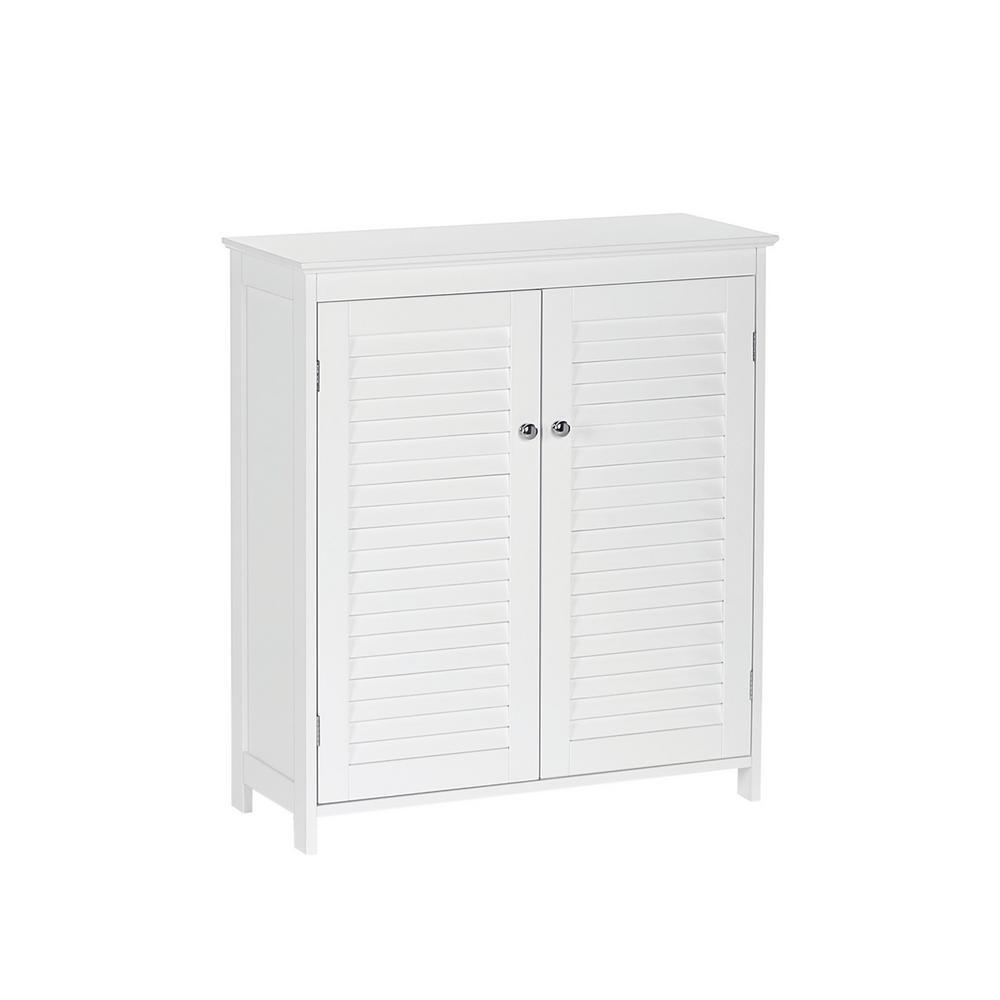 Ellsworth 28.44 in. W x 11.75 in. D x 32 in. H 2-Door Floor Cabinet in White