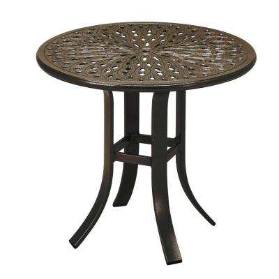 24 in. Java Cast Aluminum Commercial Patio Occasional Table
