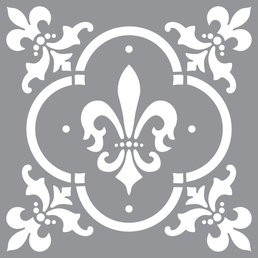 Decoart Americana Decor Fleur De Lis Tile Stencil Ads04 K The Home
