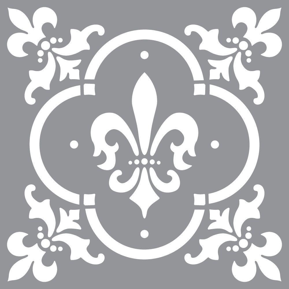 Decoart Americana Decor Fleur De Lis Tile Stencil Ads04 K