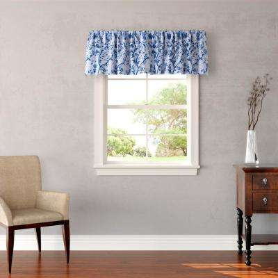 Charlotte 15 in. L Cotton Pole Top Valance in Blue
